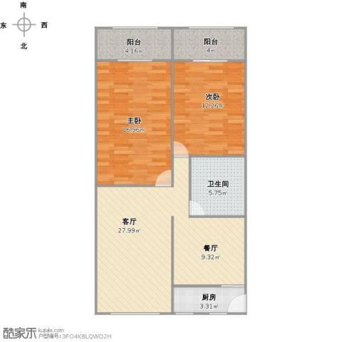 曹杨五村2室1厅1卫1厨99.00㎡户型图