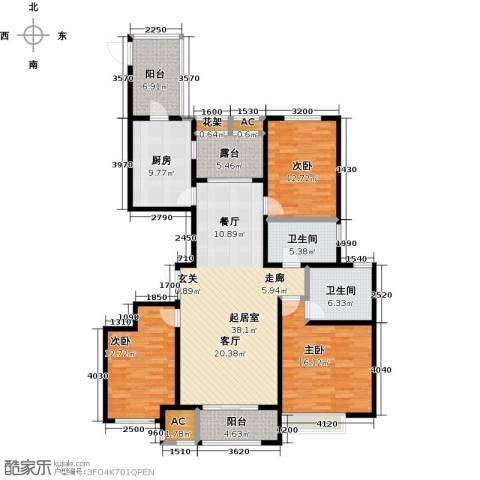 安阳万达广场3室0厅2卫1厨171.00㎡户型图
