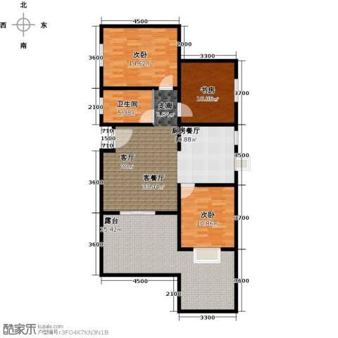 水郡花洲3室1厅1卫0厨139.00㎡户型图