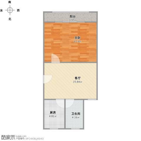 平吉一村1室1厅1卫1厨61.00㎡户型图