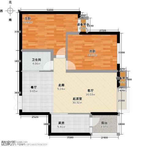 阳光台3652室0厅1卫1厨96.00㎡户型图