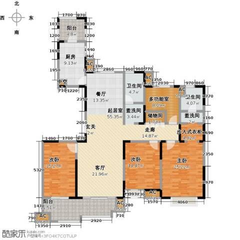 中星湖滨城四期3室0厅2卫1厨224.00㎡户型图