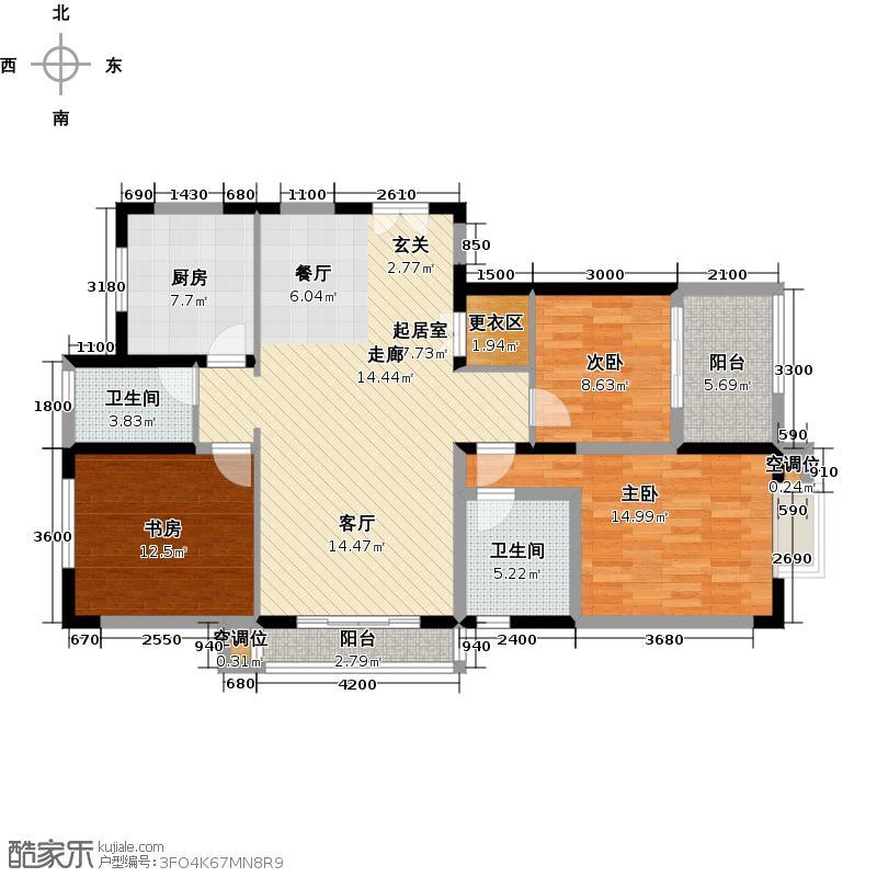 宝成嘉苑148.00㎡D户型3室2厅2卫