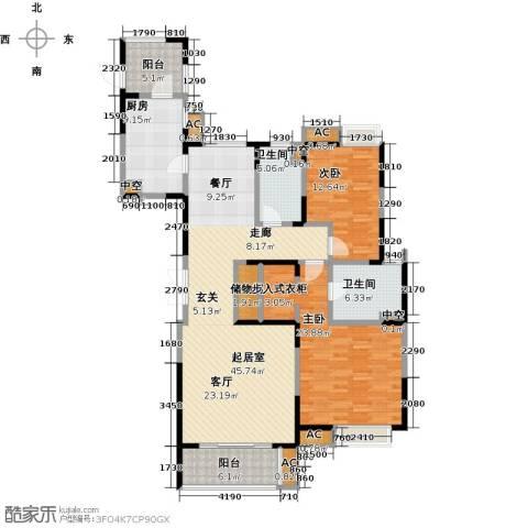 中星湖滨城四期2室0厅2卫1厨170.00㎡户型图