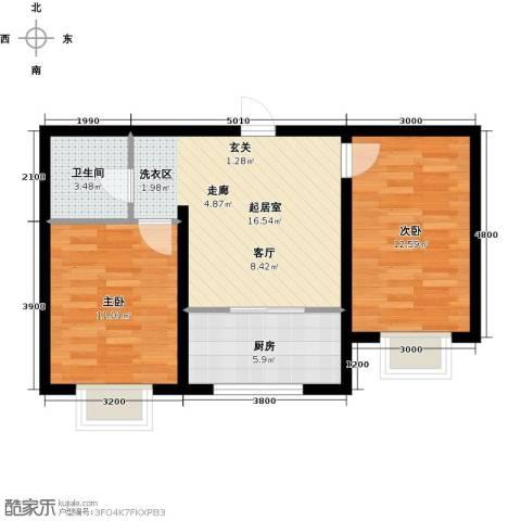 阳光1002室0厅1卫1厨69.00㎡户型图