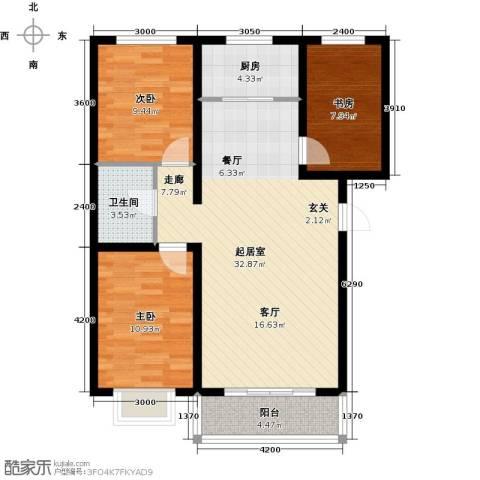阳光1003室0厅1卫1厨98.00㎡户型图