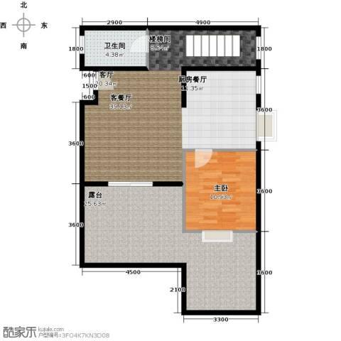水郡花洲1室1厅1卫0厨110.00㎡户型图