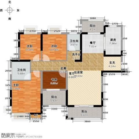 绿地中央广场4室0厅2卫1厨144.00㎡户型图