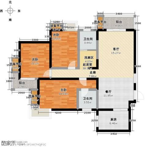 卡布奇诺国际社区3室0厅2卫1厨143.00㎡户型图