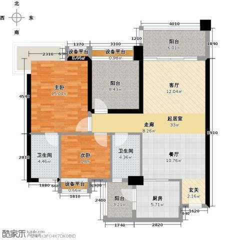 悦盈新城2室0厅2卫1厨103.00㎡户型图