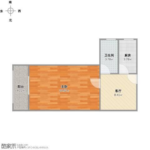 共和新路4703弄小区1室1厅1卫1厨54.00㎡户型图