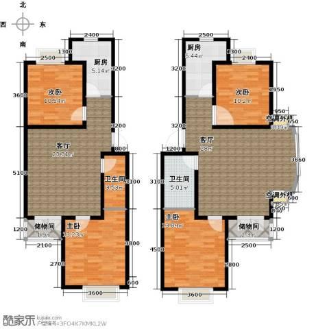 水郡花洲4室2厅2卫2厨174.00㎡户型图
