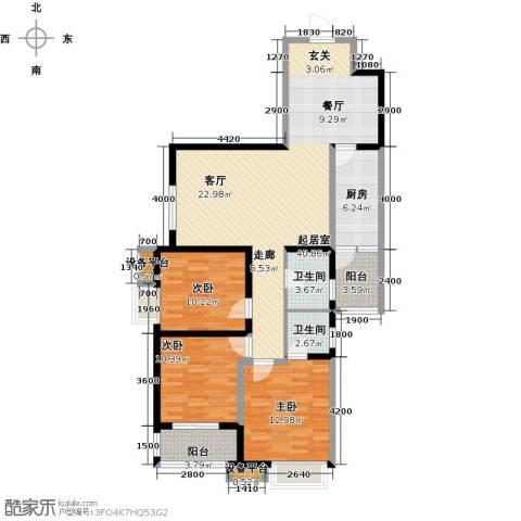 卡布奇诺国际社区3室0厅2卫1厨138.00㎡户型图
