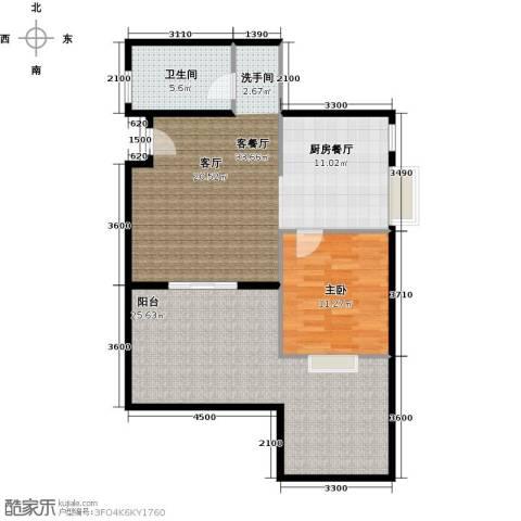 水郡花洲1室1厅1卫0厨104.00㎡户型图