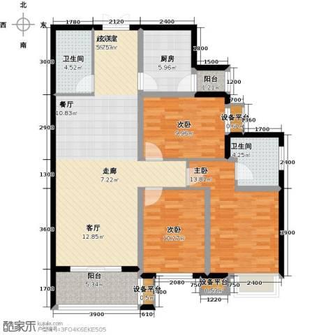 阳光台3653室0厅2卫1厨127.00㎡户型图