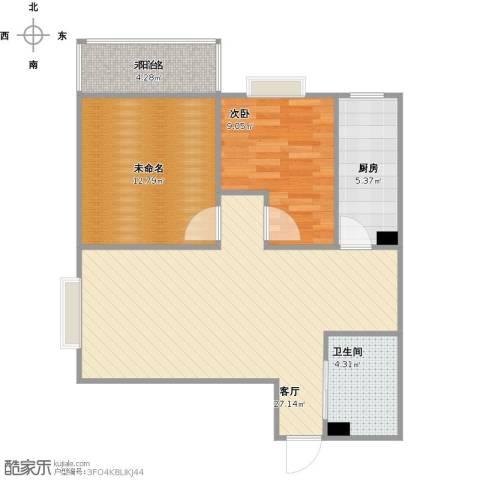 欣欣家园1室1厅1卫1厨86.00㎡户型图