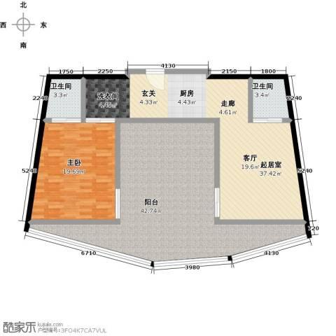钻石海岸1室0厅2卫0厨150.00㎡户型图