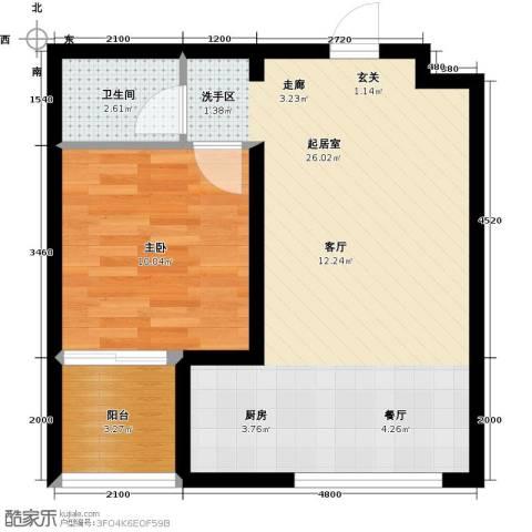 水榭花都1室0厅1卫0厨55.00㎡户型图