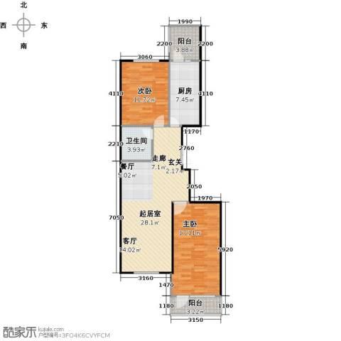 家园新城2室0厅1卫1厨81.00㎡户型图