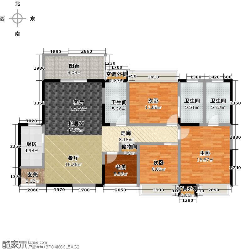 明发国际新城145.00㎡明发国际新城145.00㎡4室2厅3卫户型4室2厅3卫