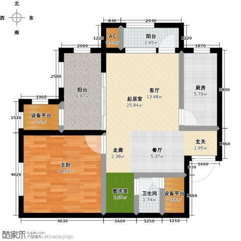 绿城蓝湾小镇1室0厅1卫1厨73.00㎡户型图