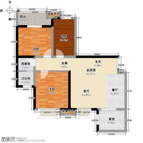 卡布奇诺国际社区3室0厅1卫1厨112.00㎡户型图