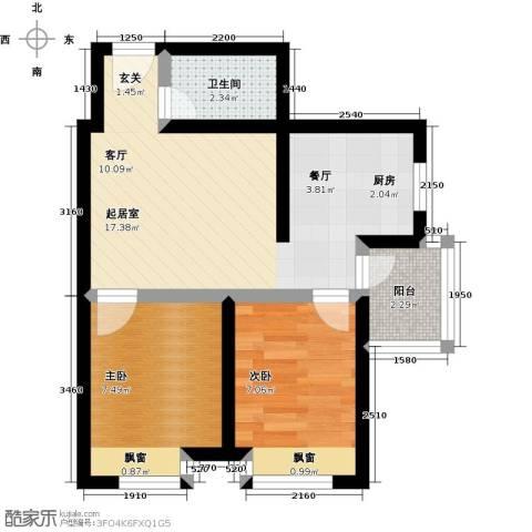 双威理想城2室0厅1卫0厨84.00㎡户型图