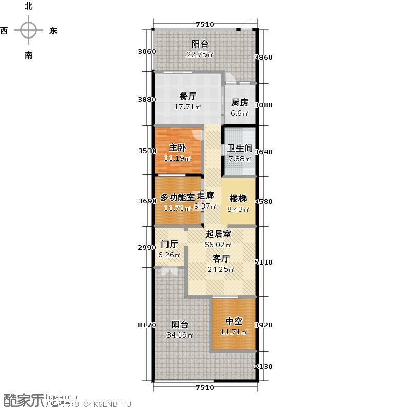 新长江香榭北郦湖341.00㎡B1户型 一层 5室4厅3卫户型5室4厅3卫