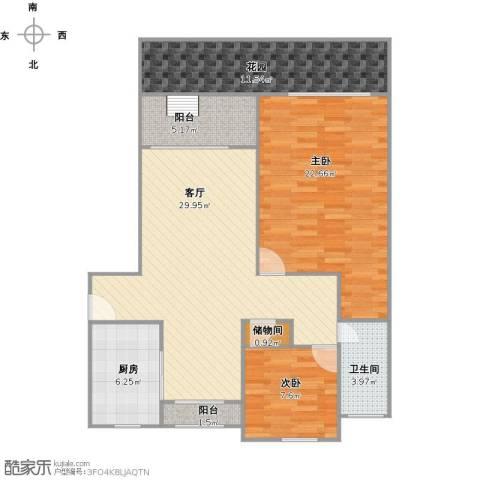 东苑新天地2室1厅1卫1厨120.00㎡户型图