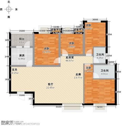 宫园壹号4室0厅2卫1厨161.00㎡户型图