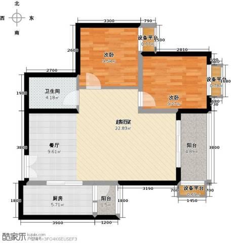 阳光台3652室0厅1卫1厨93.00㎡户型图