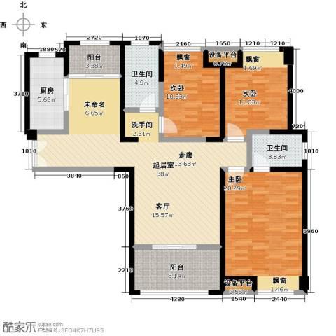 世融嘉轩3室0厅2卫1厨156.00㎡户型图