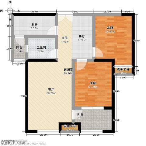 世融嘉轩2室0厅1卫1厨105.00㎡户型图