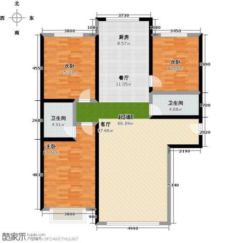 千家和众新家园3室0厅2卫0厨133.00㎡户型图