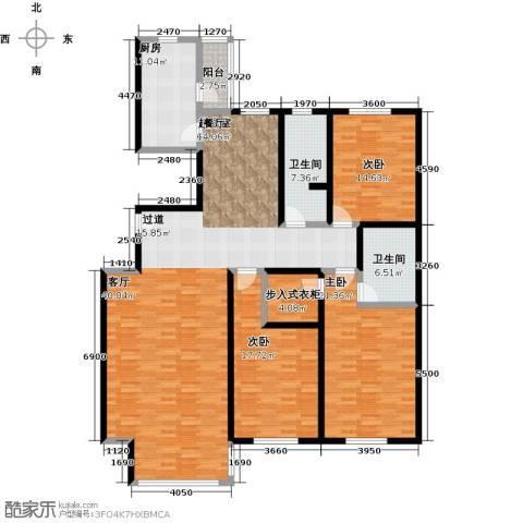 千家和泰・欣家园3室0厅2卫1厨174.00㎡户型图