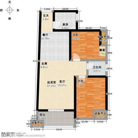 瑞泰卡地亚2室0厅1卫1厨112.00㎡户型图
