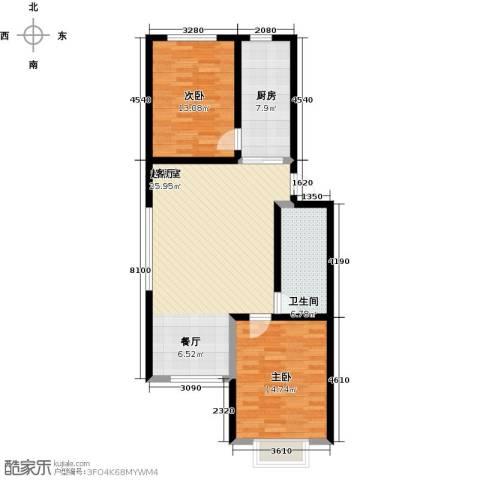 华清苑2室0厅1卫1厨85.00㎡户型图