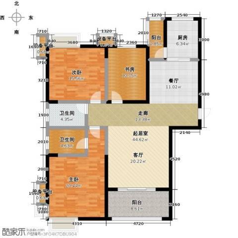 西港碧水湾3室0厅2卫1厨138.00㎡户型图