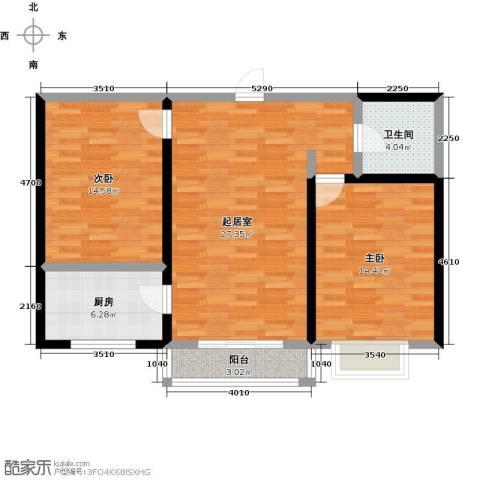 华清苑2室0厅1卫1厨80.00㎡户型图