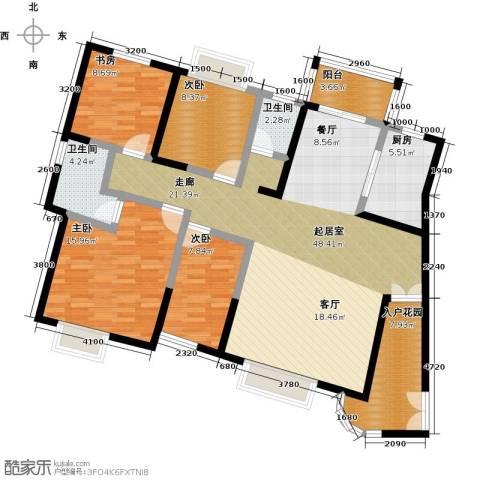 天朗御湖4室0厅2卫1厨144.00㎡户型图
