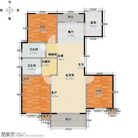 北环盛世3室0厅2卫1厨150.00㎡户型图