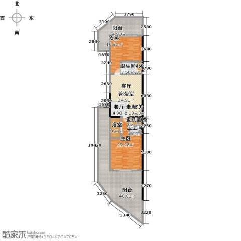 绿城蓝湾小镇2室0厅2卫0厨129.50㎡户型图
