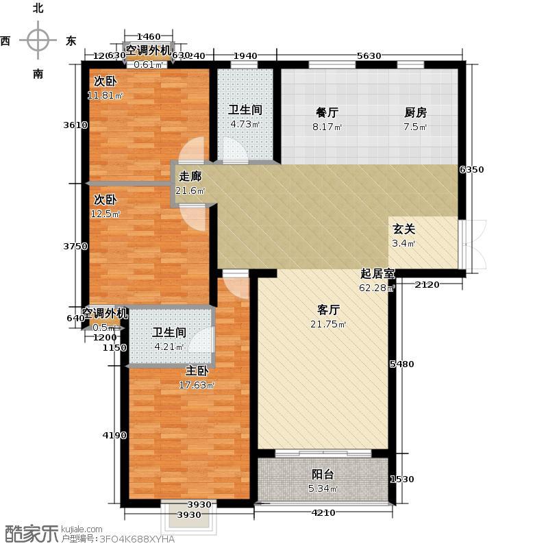 筑福城154.27㎡13#14#户型3室2厅2卫
