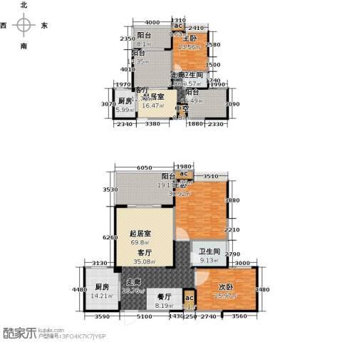 西城国际3室0厅2卫2厨341.00㎡户型图