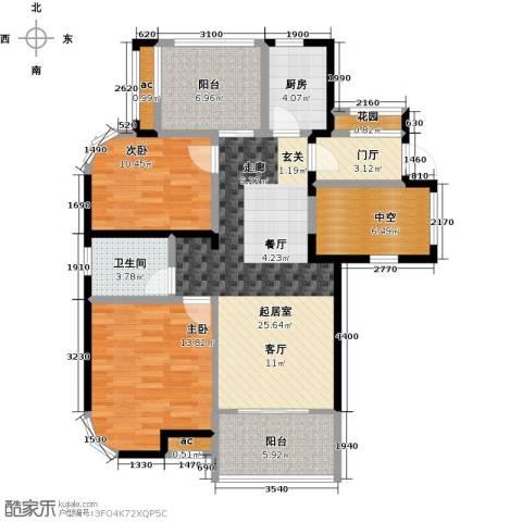 康恒嘉和豪庭2室0厅1卫1厨118.00㎡户型图