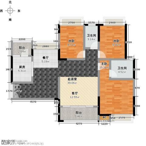 丽景名筑3室0厅2卫1厨112.00㎡户型图