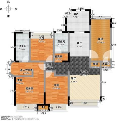 金地锦城2室0厅2卫1厨115.00㎡户型图