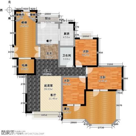 金地锦城3室0厅1卫1厨115.26㎡户型图