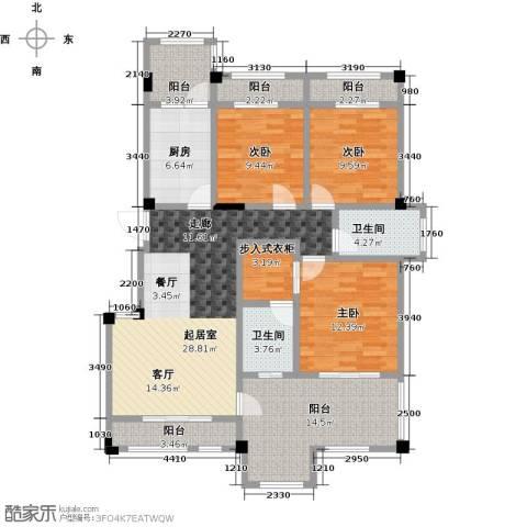 钻石铭苑3室0厅2卫1厨120.00㎡户型图