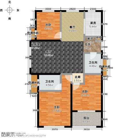 嘉利华府庄园3室0厅2卫1厨123.00㎡户型图
